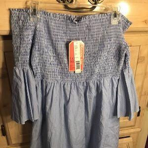 BNWT Gianni Bini Striped Baby Blue Dress sz Large